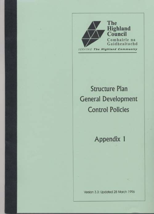 Structure Plan General Development Control Policies 1996