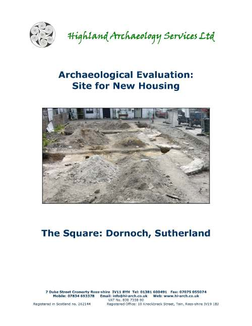 Archaeological Evaluation of Dornoch Square