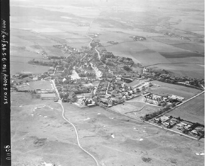 Aerial photograph of Dornoch from RCAHMS