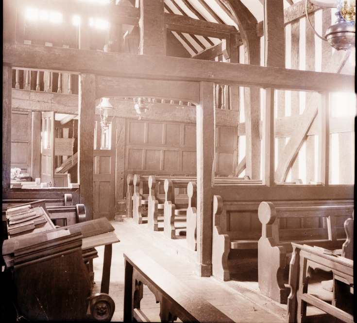 Melverley, interior ~ Collection of negatives belonging to Miss K. L. Lyon