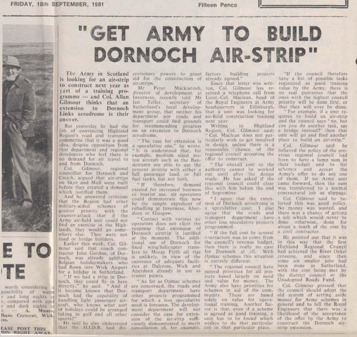 Dornoch Air Strip