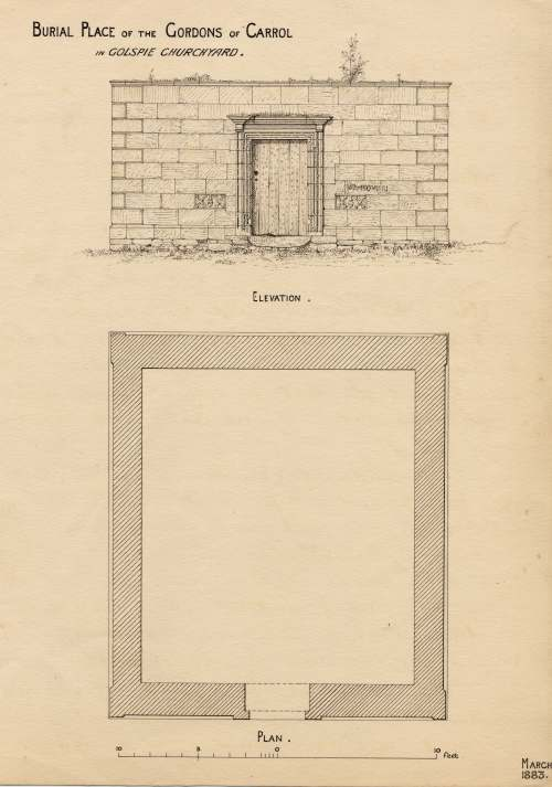 Notes on the tomb of the Gordons of Carroll 1883