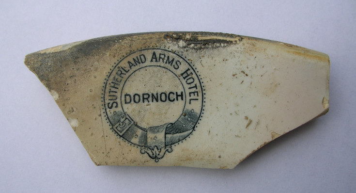 Pot fragment from Sutherland Arms Hotel