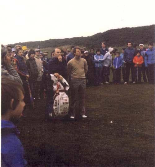 Dennis Bethune with golfer Tom Watson