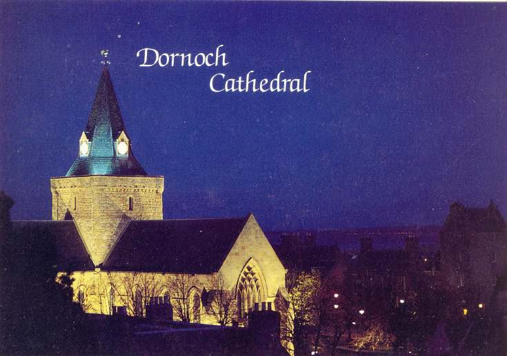 Furness Postcard Collection - Dornoch Cathedral at Night