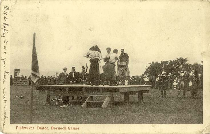 Furness Postcard Collection - Fish Wives at the Dornoch Show