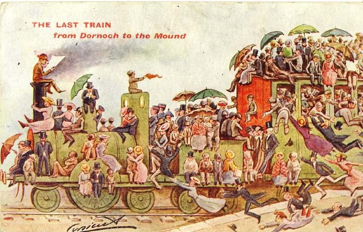 Furness Postcard Collection - Last Train from Dornoch