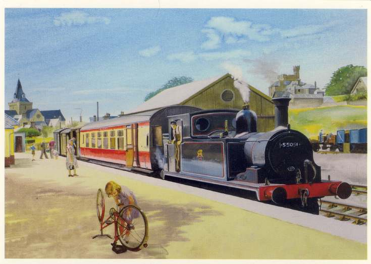 Furness Postcard Collection - Train at Dornoch Station
