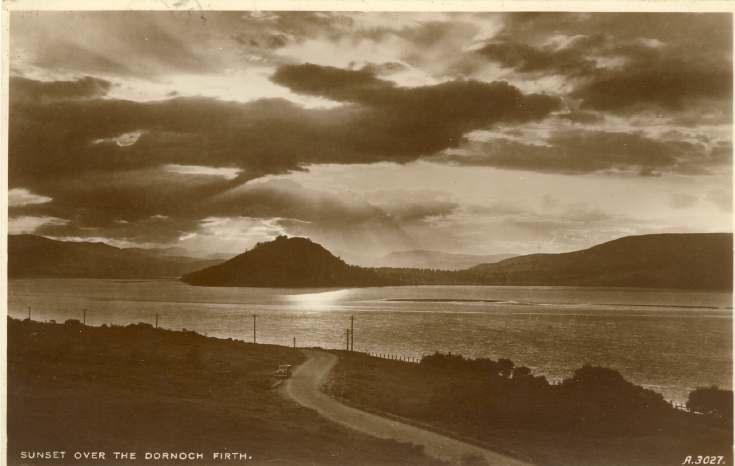 Furness Postcard Collection -   Dornoch Firth with Dun Creich