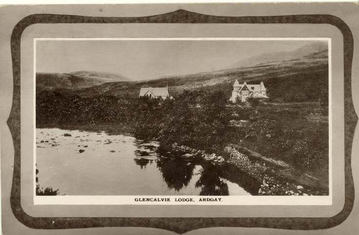 Furness Postcard Collection -   Glencalvie Lodge Ardgay