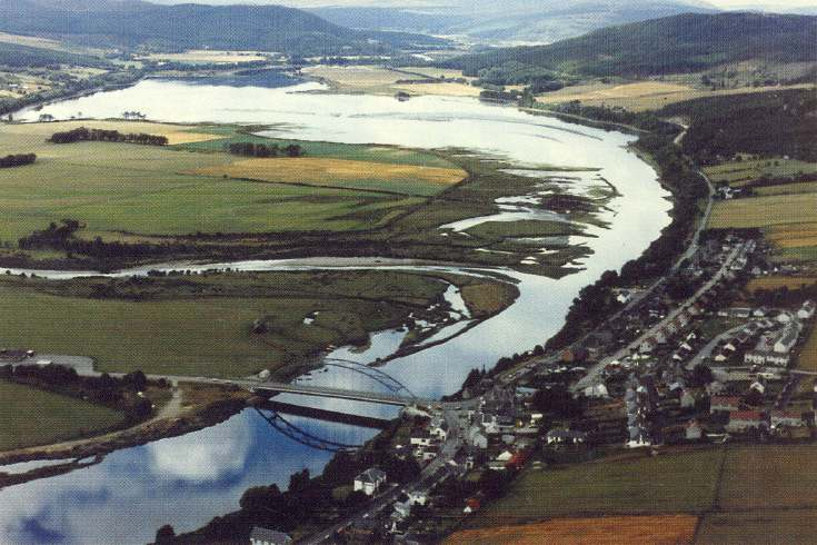 Furness Postcard Collection -   Aerial views of Bonar Bridge
