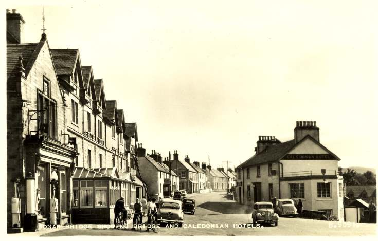 Furness Postcard Collection -   Main street Bonar Bridge