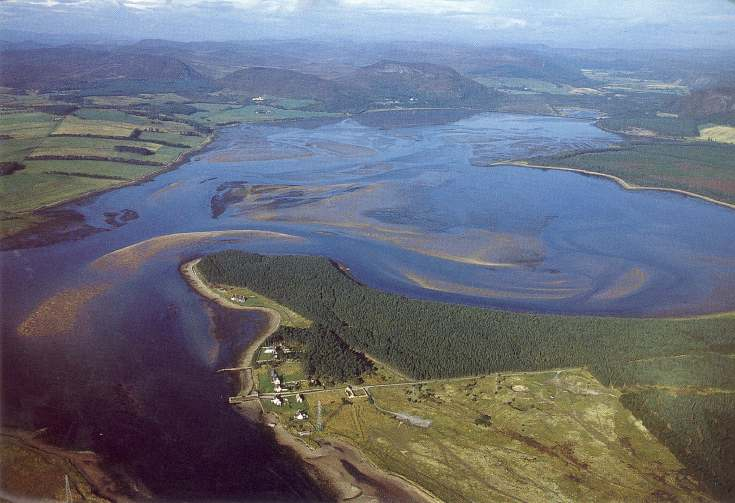 Furness Postcard Collection -  Aerial view of Loch Fleet