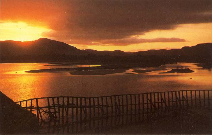 Furness Postcard Collection -  Sunset at the Mound