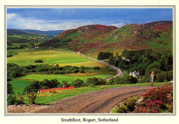 Furness Postcard Collection -  Strath Fleet, Rogart