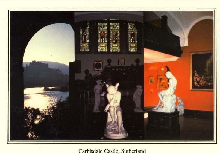 Furness Postcard Collection -  Carbisdale Castle Interior