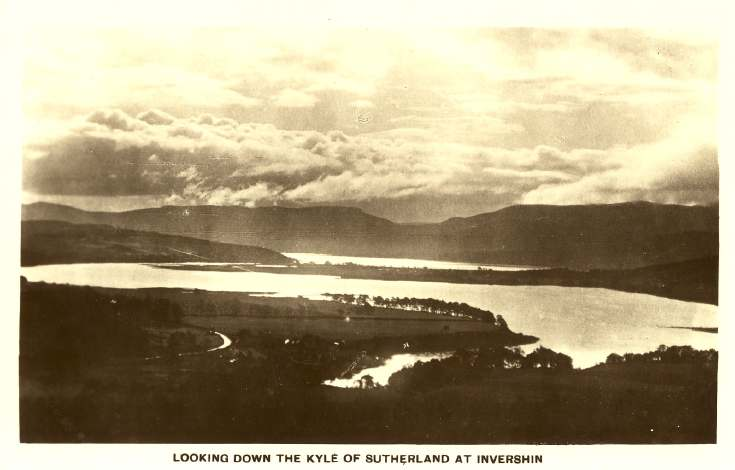 Furness Postcard Collection -  Kyle of Sutherland at Invershin