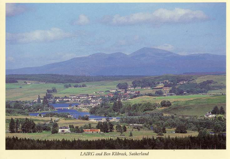 Furness Postcard Collection -  Lairg and Ben Klibreck