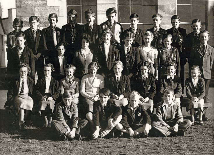 Dornoch Academy Photograph About 1956