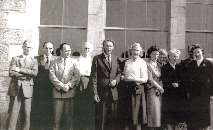 Dornoch Academy Staff Photograph c 1950