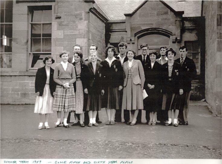 Dornoch Academy 5th & 6th year pupils summer 1959