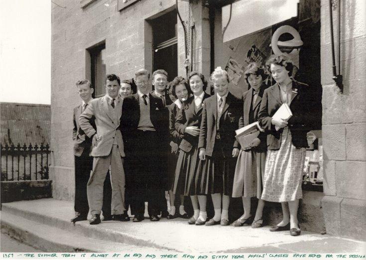 Dornoch Academy 5th & 6th year end of summer term 1959