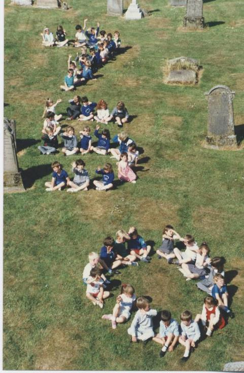Cathedral pageant 1989 Children in Churchyard