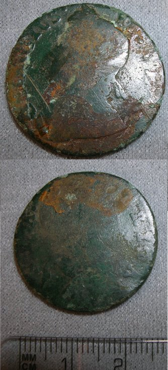 Coin from fields at the rear of the Burghfield Hotel
