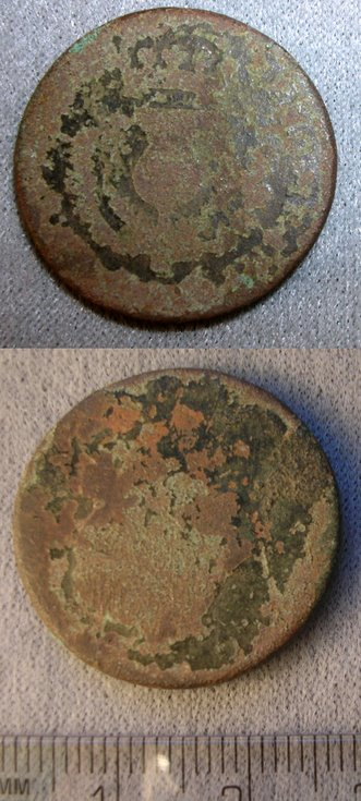 Coin from the fields at the rear of the Burghfield Hotel