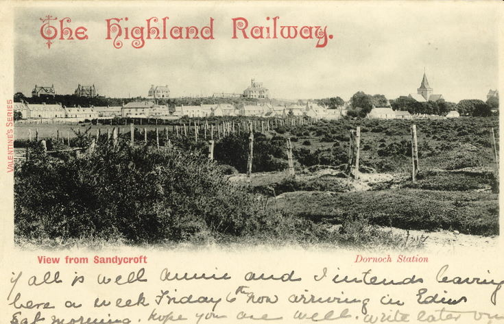 Highland Railway - View from Sandycroft