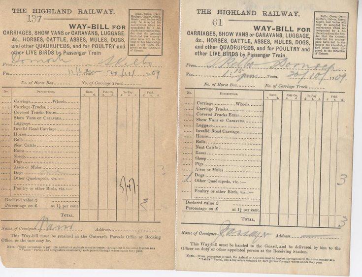 Highland Railway Waybills