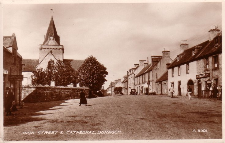 High Street and Cathedral, Dornoch