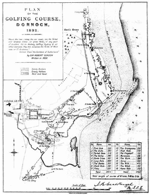 plan of Dornoch golf course