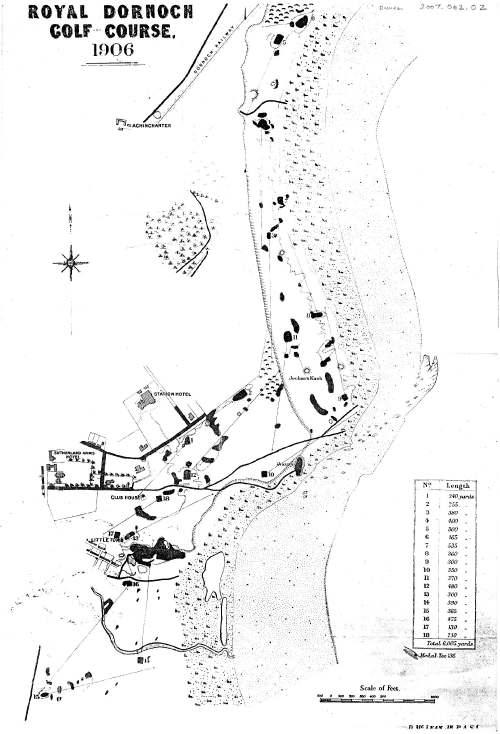 plan of Dornoch golf course