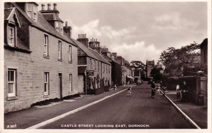Dornoch ~ Castle Street looking east