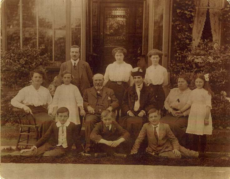 Copy of a photograph of family Group, Mackay