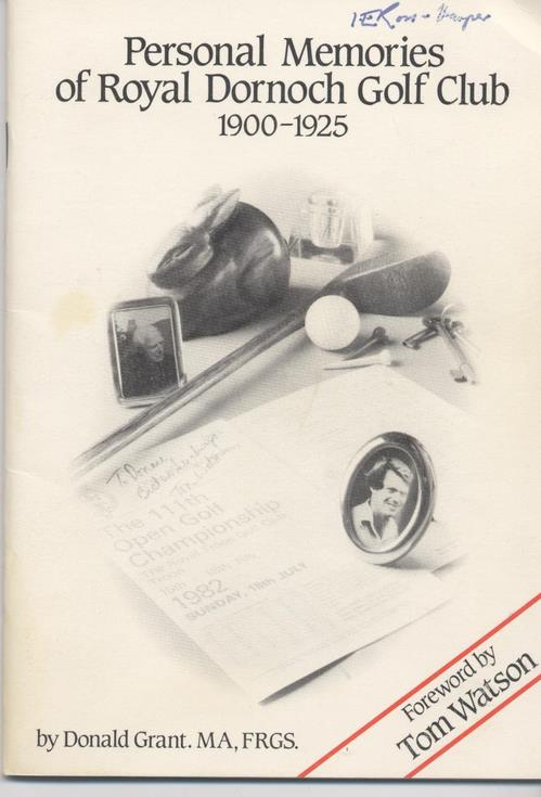 Personal Memories of Royal Dornoch Golf Club 1900-1925