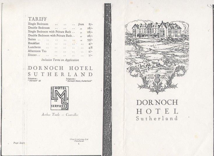 Booklet Dornoch Hotel