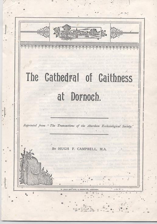 The cathedral of Caithness at Dornoch