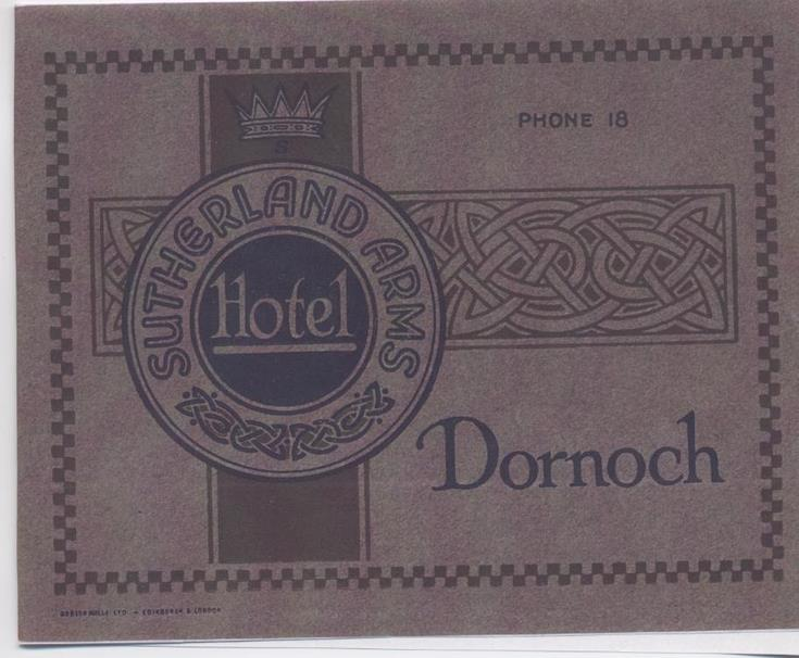 Sutherland Arms Hotel booklet