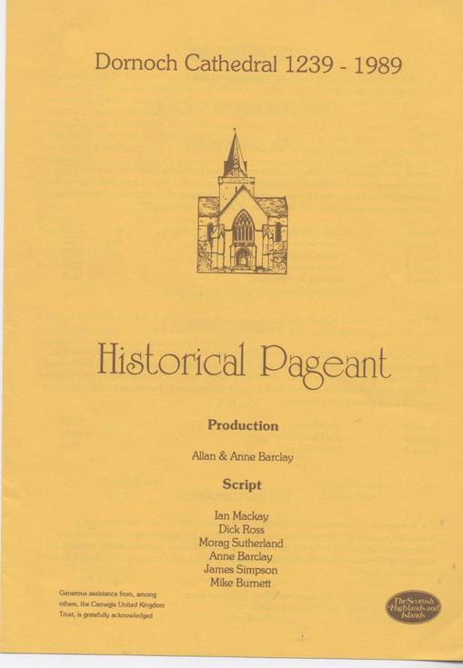 1989 Cathedral Pageant Programme