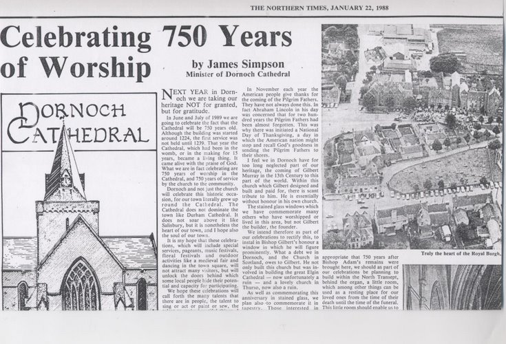 History of Dornoch Cathedral