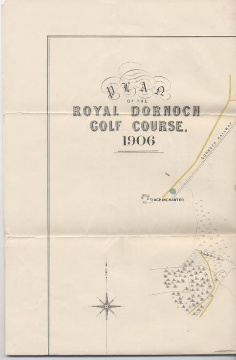 Plan of the Royal Dornoch Golf Course 1906