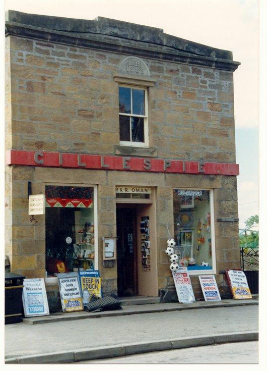 Gillispie's shop Castle Street
