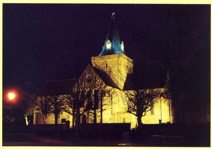 Furness Postcard Collecton - Dornoch Cathedral at Night