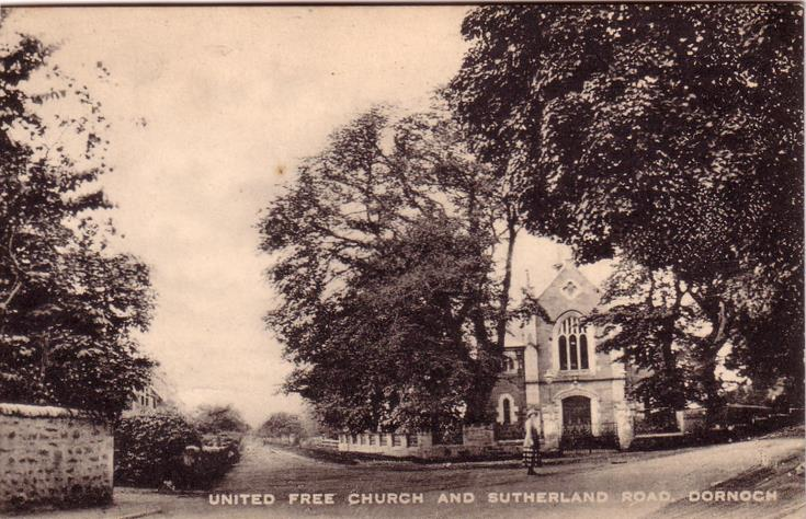 United Free Church and Sutherland Road,  Dornoch