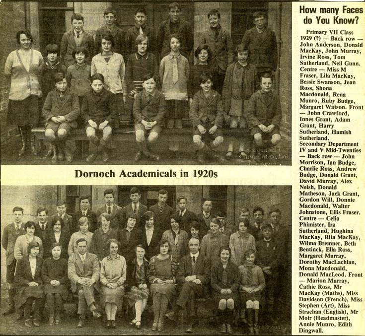Dornoch Academicals in 1920s