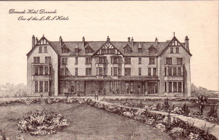 Dornoch Hotel line drawing c 1930