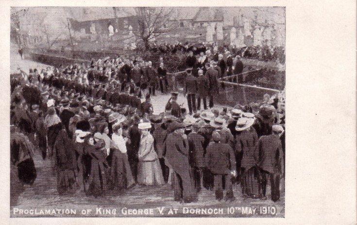 Proclamation of King George V at Dornoch