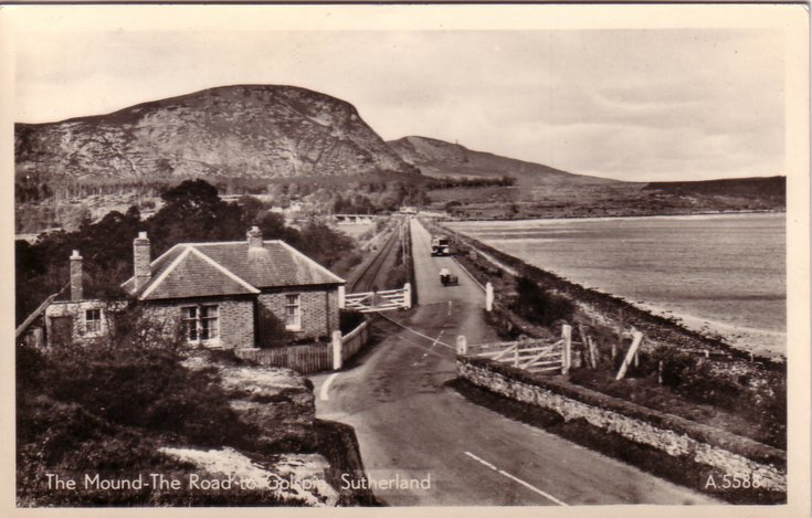 The Mound and the road to Golspie